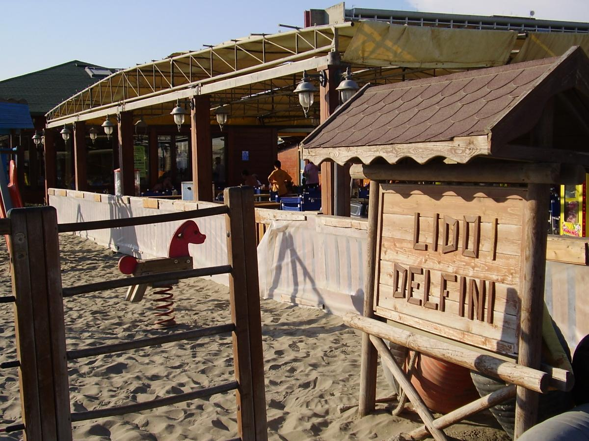 Tabella in legno Lido i delfini